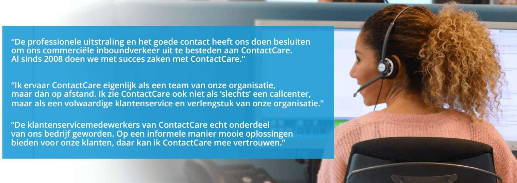 Ervaringen van klanten over ContactCare
