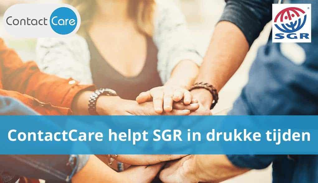 contactcare helpt sgr in drukke tijden