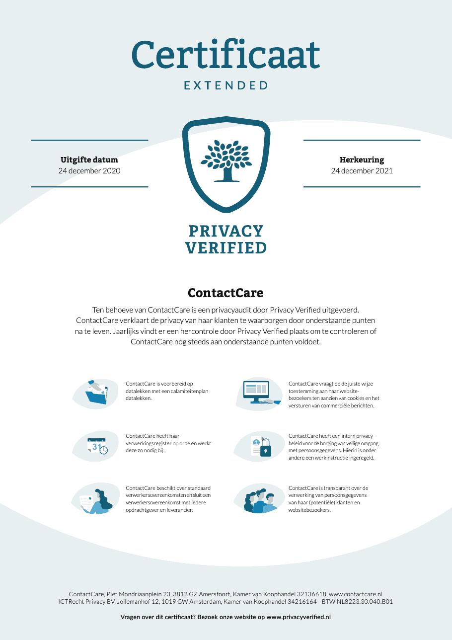 AVG compliant certificaat